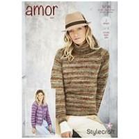 Cardigan and Sweater in Amor Aran 9798