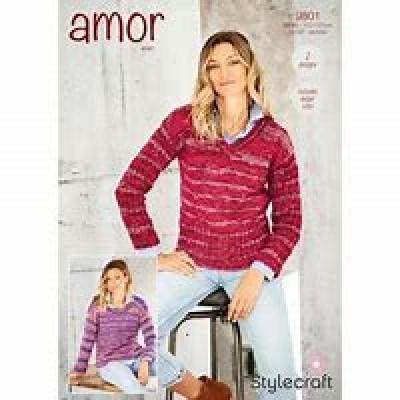Sweaters in Amor Aran 9801