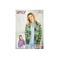 Jacket and Sweater in Amor Aran 9800