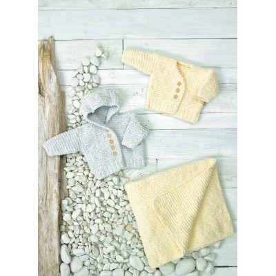 Knitting Pattern for Baby Hoodie, Cardigan and Blanket