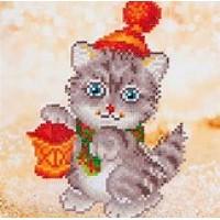 Christmas Kitten Glow Diamond Dotz