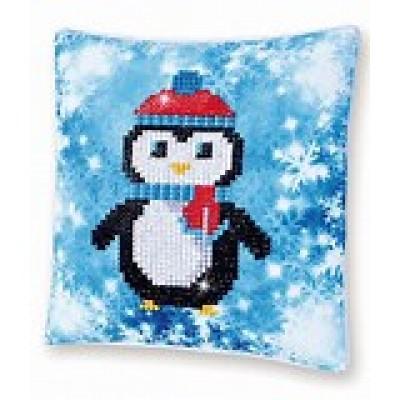 Christmas Penguin Mini Pillow