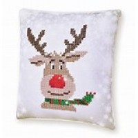 Christmas Reindeer Mini Pillow