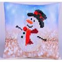 Snowman Top Hat Mini Pillow