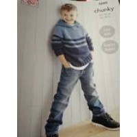 King Cole 5680 Child's Sweater and Hooded Sweater in Subtle Drifter Chunky (leaflet)
