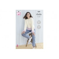 King Cole 5682 Ladies' Sweater and Cardigan in Subtle Drifter Chunky (leaflet)