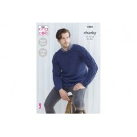 King Cole 5686 Mens Sweaters in Subtle Drifter Chunky (leaflet)