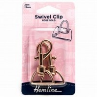 Swivel Cips 25mm 2pcs Rose Gold