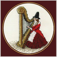 Welsh Lady with Harp
