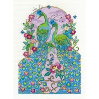 Peacocks Counted Cross Stitch Kit