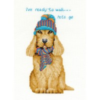 Cocker Spaniel Counted Cross Stitch Kit by DMC