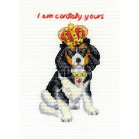 King Charles Cavalier Counted Cross Stitch Kit by DMC
