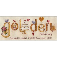 Golden Anniversary Cross Stitch Chart
