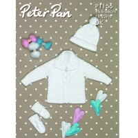 Jacket, Hat and Mitts in Peter Pan DK