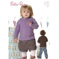 Bobble and Cable Sweater in Peter Pan DK