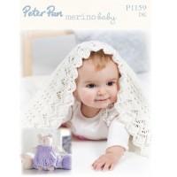 Blanket and Teddy in Peter Pan Merino Baby DK